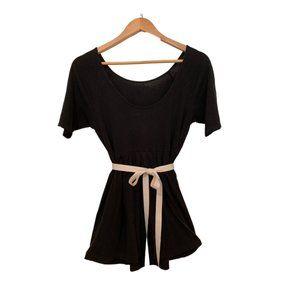 Low back, tie up blouse size M